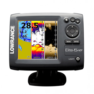 Lowrance Elite 5 HDI Fish Finder For Kayak Fishing