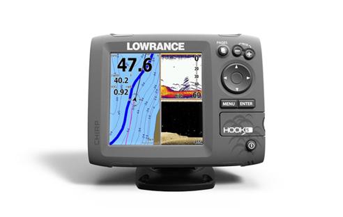 lowrance hook 5 ice machine