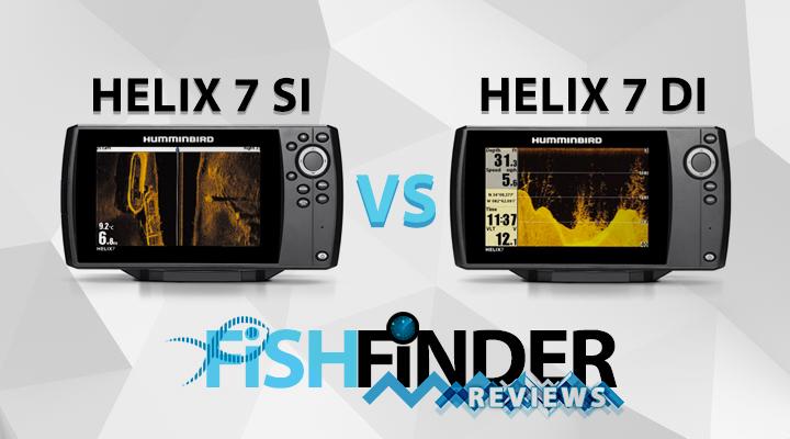 Humminbird Helix 7 » SI vs DI GPS Review » Fish Finder Reviews